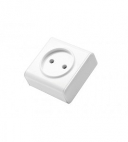 Miniature Біла Розетка 1-на б/з накладна