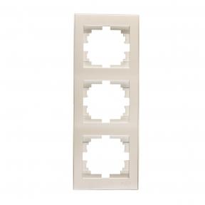 Rain Перл.білий Рамка 3-на вертикальна