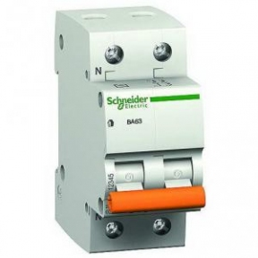 Вимикач автоматичний BA63 1р+Н 10А Schneider Electric