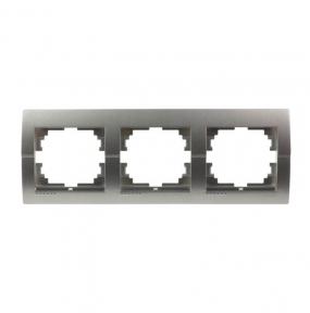 Deriy Тем/Сірий металік Рамка 3-а горизонтальна