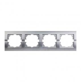 Deriy Тем/Сірий металік Рамка 4-а горизонтальна