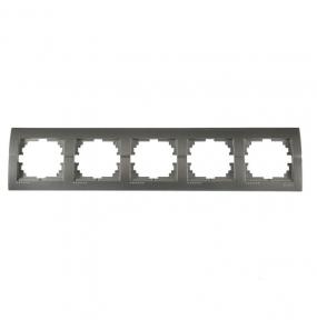 Deriy Тем/Сірий металік Рамка 5-а горизонтальна