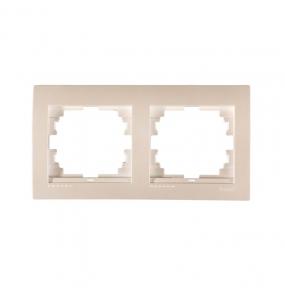 Deriy Перл/Білий металік Рамка 2-а горизонтальна