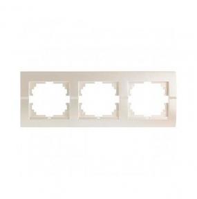 Deriy Перл/Білий металік Рамка 3-а горизонтальна