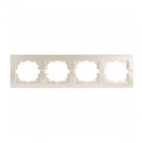 Deriy Перл/Білий металік Рамка 4-а горизонтальна