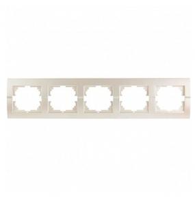 Deriy Перл/Білий металік Рамка 5-а горизонтальна