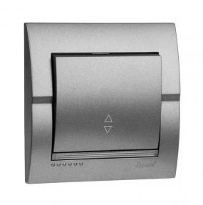 Deriy Тем/Сірий металік Вимикач 1-кл прохідний