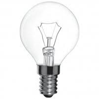 Лампа куля прозора P45 40W E14 clear Philips