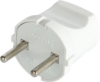 Вилка побутова e.plug.002.10, з/з, 10А, біла