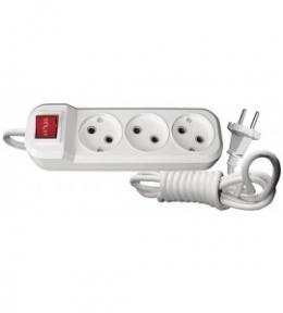 Подовжувач 7225 3 гн 5 м + вимикач без заземлення Benefis Luxel