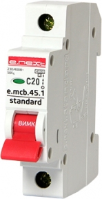 Вимикач автоматичний e.mcb.stand C 1p 20А E.Next