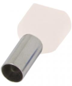 Наконечник ізольов.E.Next e.terminal.stand.te.0508 2x0,5кв.мм білий