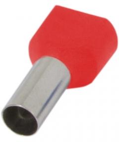 Наконечник ізольов.E.Next e.terminal.stand.te.2510 2*2,5 кв.мм Червоний
