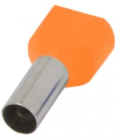 Наконечник ізольов.E.Next e.terminal.stand.te.4012 2*4 кв.мм помаранчевий