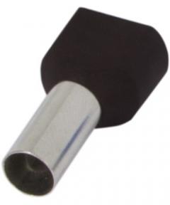 Наконечник ізольов.E.Next e.terminal.stand.te.6014 2*6 кв.мм Чорний