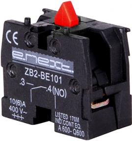 Блок-контакт E.Next e.cb.stand.n.з, червоний