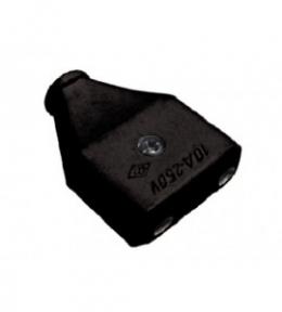 Гніздо 11061 штепсельне чорне Luxel