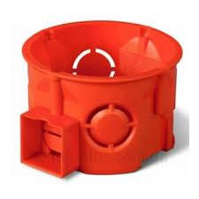 Коробка монтажна 60мм стиковочна бетон помаранчева Одеспласт