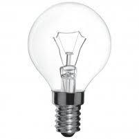 Лампа куля прозора P45 60W E14 clear Philips