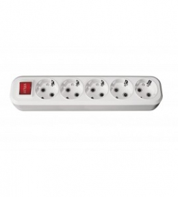Колодка 7271 5 гн з/з + вимикач Benefis Luxel