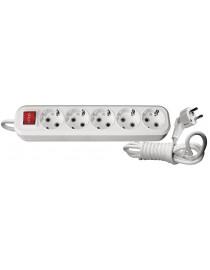 Подовжувач 7275 5гн 5м +вимикач з заземленням Benefis Luxel
