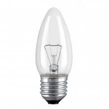 Лампа свічка прозора В35 40W E27 clear Philips