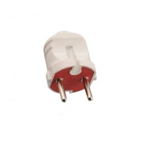 Вилка 715-0101-601 однофазна без заземлення біло/червона Lezard