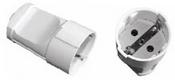 Гніздо штепсельне 1003 з/з біле Luxel