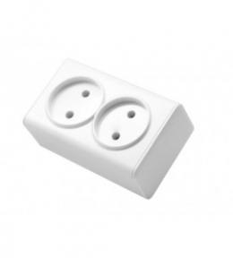 Miniature Біла Розетка 2-на б/з накладна