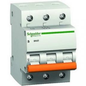 Вимикач автоматичний BA63 3р 25А Schneider Electric