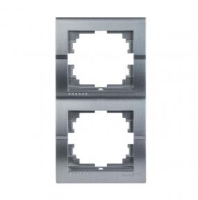 Deriy Тем/Сірий металік Рамка 2-а вертикальна