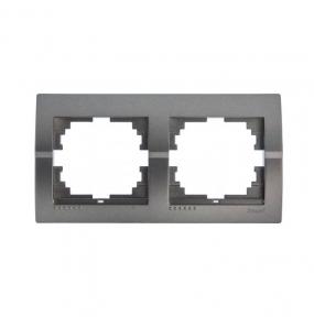Deriy Тем/Сірий металік Рамка 2-а горизонтальна