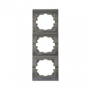 Deriy Тем/Сірий металік Рамка 3-а вертикальна