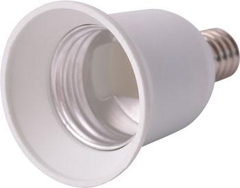 Перехідник з Е14 на Е27 білий s9100022 E.next