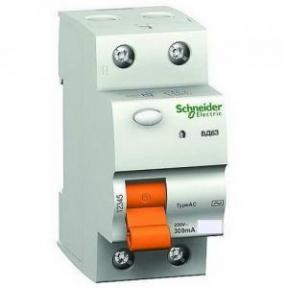 Пристрій захисного відключення ПЗВ BД63 2р-25 А 30МА Schneider Electric