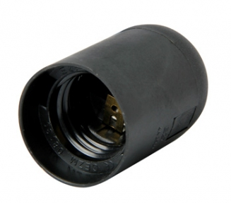 Патрон пластиковий E27 чорний s9100009 E.next