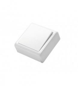 Miniature Біла Вимикач 1-кл накладний