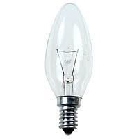 Лампа свічка прозора В35 60W E14 clear Philips