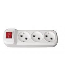 Колодка 7221 3 гн б/з + вимикач Benefis Luxel
