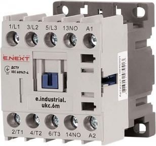 Контактор E.Next e.industrial.ukc.6А 220В no малогабаритний