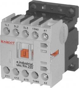 Контактор E.Next e.industrial.ukc.9А 220В no малогабаритний