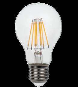 Філаментна світлодіодна лампа Luxel 072 - H A60 (filament) 7w E27 2700k 880 lm 8 ниток.