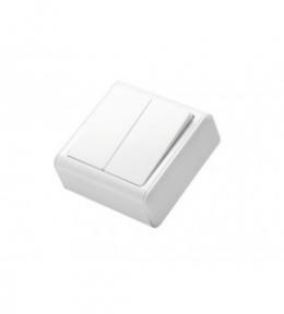 Miniature Біла Вимикач 2-кл накладний