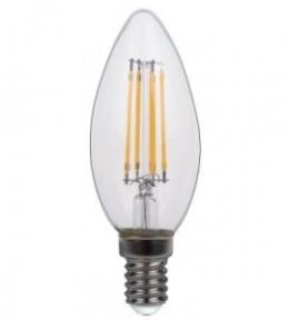 Філаментна світлодіодна лампа Luxel 071 - H C35 (filament) 4w E14 2700k 440 lm 4 нитки.