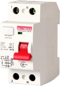 Пристрій захисного відключення ПЗВ e.mcb.stand  2p 25А 30mA E.Next