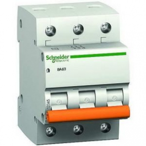Вимикач автоматичний BA63 3р 63А C Schneider Electric